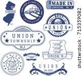 union township  new jersey. set ... | Shutterstock .eps vector #715359082