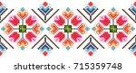 embroidered good like handmade... | Shutterstock .eps vector #715359748