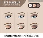 eye makeup tutorial  eyeshadow... | Shutterstock .eps vector #715363648