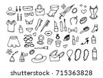 lady fashion accessories vector ... | Shutterstock .eps vector #715363828