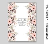 peony wedding invitation card... | Shutterstock .eps vector #715369768