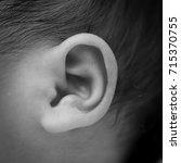 ear of newborn   Shutterstock . vector #715370755