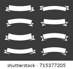 vintage bent rounded arc banner ... | Shutterstock . vector #715377205