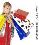 shopping woman smiling.... | Shutterstock . vector #71537944