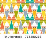 gnome pattern | Shutterstock . vector #715380298