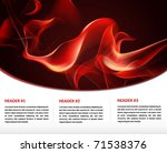 fire flame glowing print and... | Shutterstock .eps vector #71538376