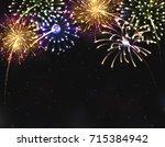 vector eps 10. for 2018 new... | Shutterstock .eps vector #715384942