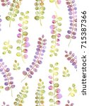 watercolor illustration bouquet ... | Shutterstock . vector #715387366