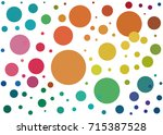 background with colored dots of ... | Shutterstock .eps vector #715387528