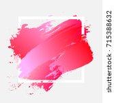brush painted watercolor design ... | Shutterstock .eps vector #715388632