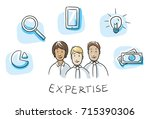 happy multi ethnic business... | Shutterstock .eps vector #715390306
