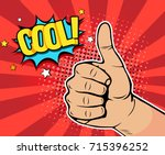 pop art background with male... | Shutterstock .eps vector #715396252