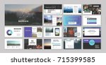 original presentation templates ... | Shutterstock .eps vector #715399585