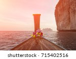 sea view with traditional... | Shutterstock . vector #715402516