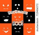 halloween vector design with... | Shutterstock .eps vector #715406572