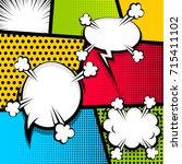pop art comics book magazine... | Shutterstock .eps vector #715411102