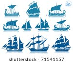ships of the past  iconset   Shutterstock .eps vector #71541157