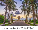 palm beach  florida  usa clock...