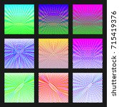 set of abstract multicolored... | Shutterstock .eps vector #715419376