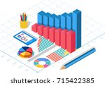 isometric data | Shutterstock .eps vector #715422385