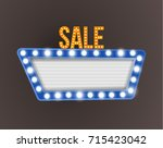 retro realistic 3d light sale... | Shutterstock .eps vector #715423042