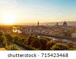 florence sunset | Shutterstock . vector #715423468
