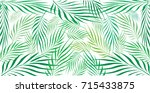 graphic leaves of coconut... | Shutterstock .eps vector #715433875