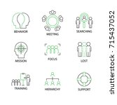 modern flat thin line icon set... | Shutterstock .eps vector #715437052