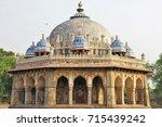 isha khan mosque at humayun's... | Shutterstock . vector #715439242