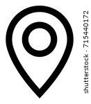 vector location marker line icon | Shutterstock .eps vector #715440172