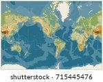 world map americas centered... | Shutterstock .eps vector #715445476