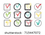vector checkmarks and... | Shutterstock .eps vector #715447072