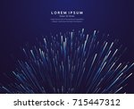 lines composed of glowing... | Shutterstock .eps vector #715447312