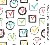 vector checkmarks and... | Shutterstock .eps vector #715447402