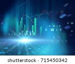 financial graph on technology... | Shutterstock . vector #715450342