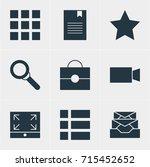 vector illustration of 9 web... | Shutterstock .eps vector #715452652