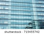 close up view of glass wall of... | Shutterstock . vector #715455742