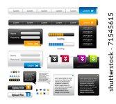vector web 2.0 menu set for... | Shutterstock .eps vector #71545615