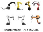 collection of industry... | Shutterstock . vector #715457086