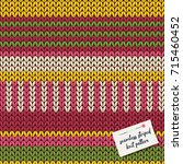 colorful knitted stripes...   Shutterstock .eps vector #715460452