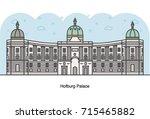 vector line illustration of... | Shutterstock .eps vector #715465882
