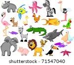 set of wild animals | Shutterstock . vector #71547040