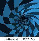 Stock vector illustration of wonderland rabbit hole 715475725