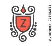 monogram logo and identity... | Shutterstock .eps vector #715482586