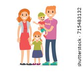family  mother  father and... | Shutterstock .eps vector #715483132