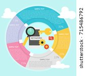 keyword search infographic | Shutterstock .eps vector #715486792