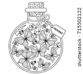 coloring book for adults. a... | Shutterstock . vector #715502122