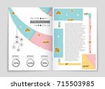 abstract vector layout...   Shutterstock .eps vector #715503985