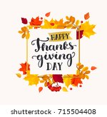 happy thanksgiving day banner...   Shutterstock .eps vector #715504408