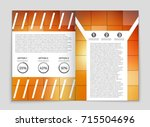 abstract vector layout... | Shutterstock .eps vector #715504696